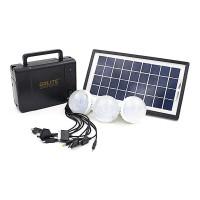 Kit solar Gdlite GD8006A, USB, 3 becuri LED