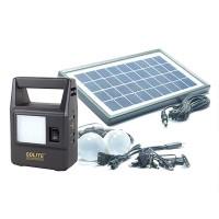 Kit solar Gdlite GD-8030, USB, 2 becuri