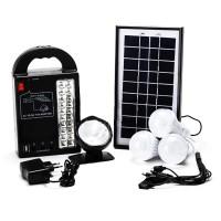 Kit solar Gdplus GD8215, lanterna frontala, USB, 3 becuri