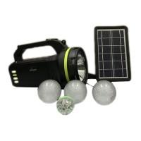 Kit solar portabil CCLamp, 10 W, 9000 mAh, lanterna, panou solar, 3 x becuri incluse