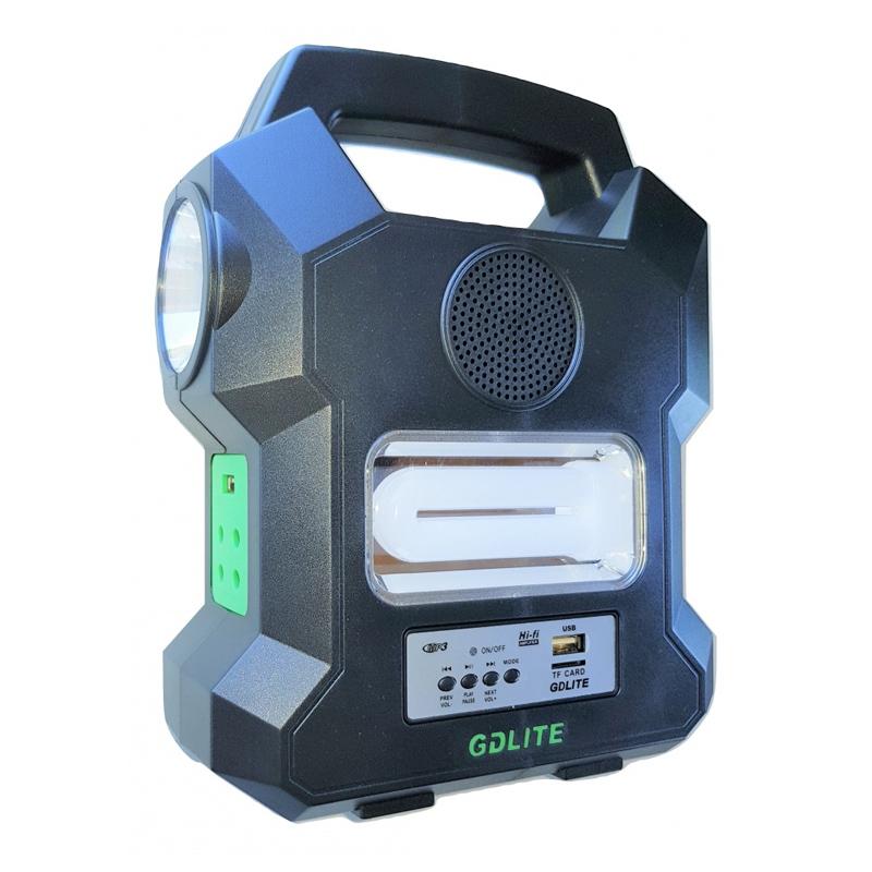 Kit solar portabil Gdlite GD-1000A, USB, bluetooth, radio FM, MP3, 4 becuri incluse 2021 shopu.ro