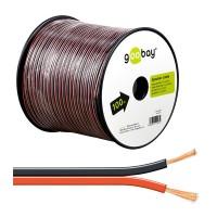 Cablu difuzor Goobay, 2 x 2.50 mm², 100 m, Negru/Rosu