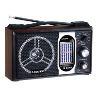 Radio portabil Leotec LT-2008, 12 benzi, model retro