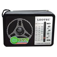 Radio portabil Leotec LT-608B, 4 benzi, mufa jack