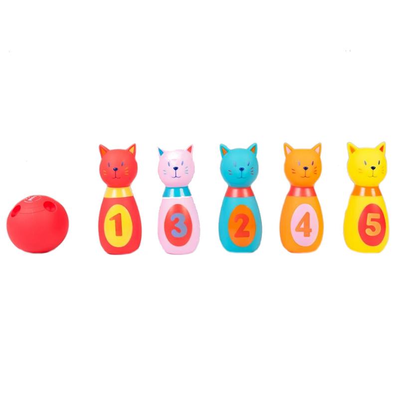 Set 5 popice soft Ludi, 6 x 6 x 15 cm, 10 luni+, model pisicute 2021 shopu.ro