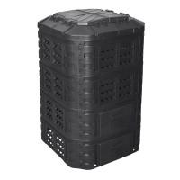 Lada compost pentru gradina, PVC, 1120 L, Negru