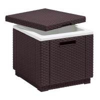 Lada frigorifica tip taburet Ice Cube, 42 x 42 x 41 cm, Maro