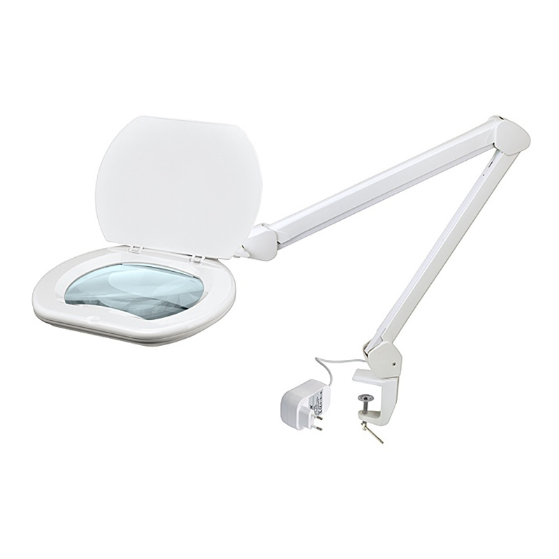Lampa LED cu lentila magnificare Pro'sKit, 175 x 130 mm, intensitate reglabila shopu.ro