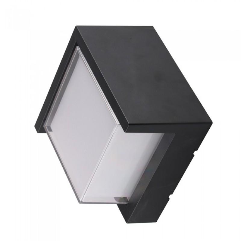Lampa LED, 12 W, 4000 K, 900 lm, culoare alb neutru, forma patrata, Negru 2021 shopu.ro