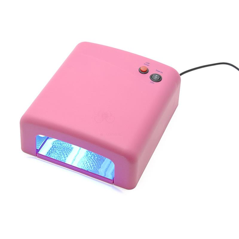 Lampa UV pentru manichiura, 36 W, Roz
