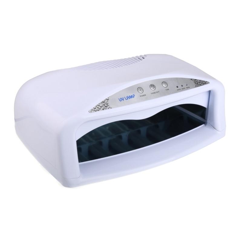 Lampa UV cu timer si ventilator SM704, 54 W, Alb 2021 shopu.ro