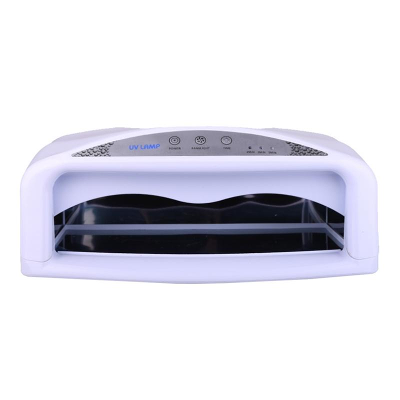 Lampa UV cu timer si ventilator SM704, 54 W, Alb