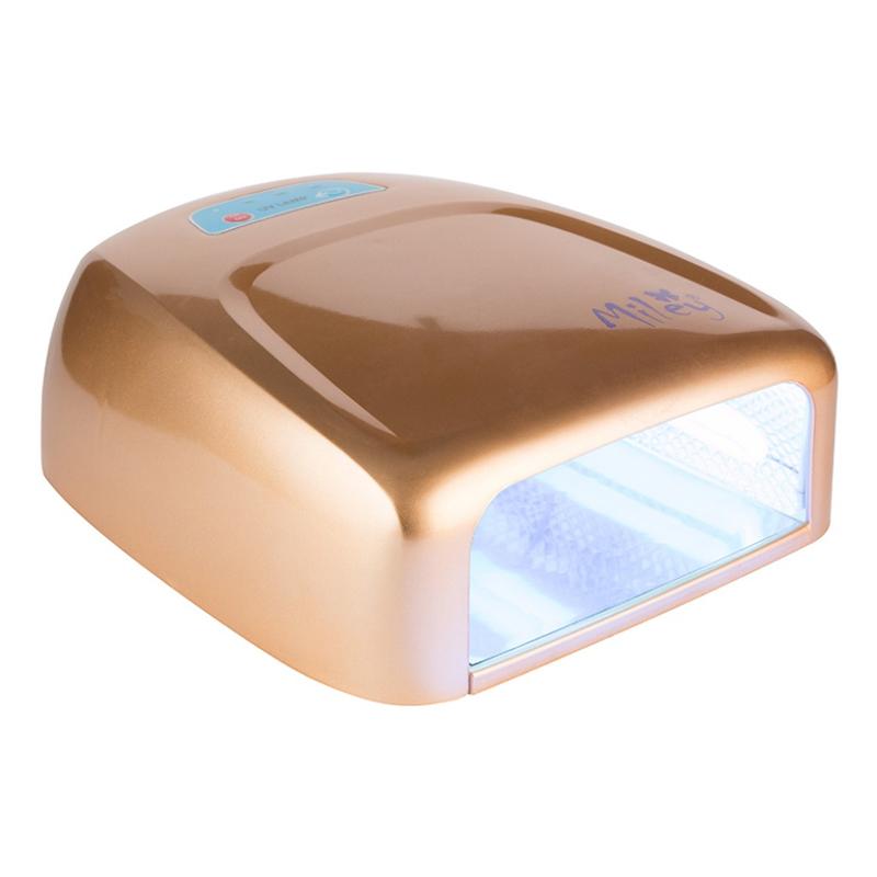 Lampa UV pentru manichiura Miley ML888G, 36 W, Auriu
