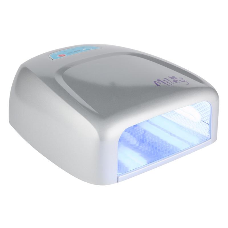 Lampa UV pentru manichiura Miley ML888S, 36 W, Argintiu