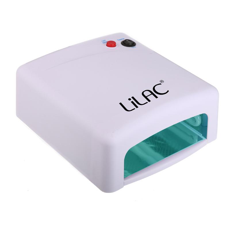 Lampa UV pentru unghii Lilac, 36 W, timer, 4 x neon UV, Alb 2021 shopu.ro
