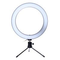 Lampa circulara de masa Ring Light, 36 x LED SMD, 3 trepte lumina, mini trepied inclus