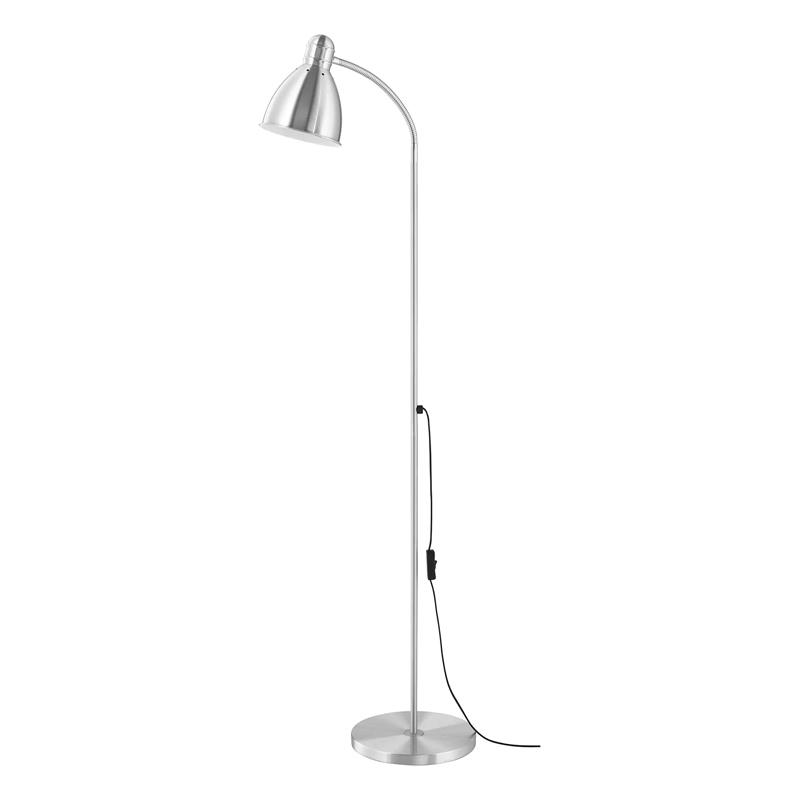 Lampadar pentru citit, 20 W, inaltime 131 cm, brat flexibil, Argintiu 2021 shopu.ro