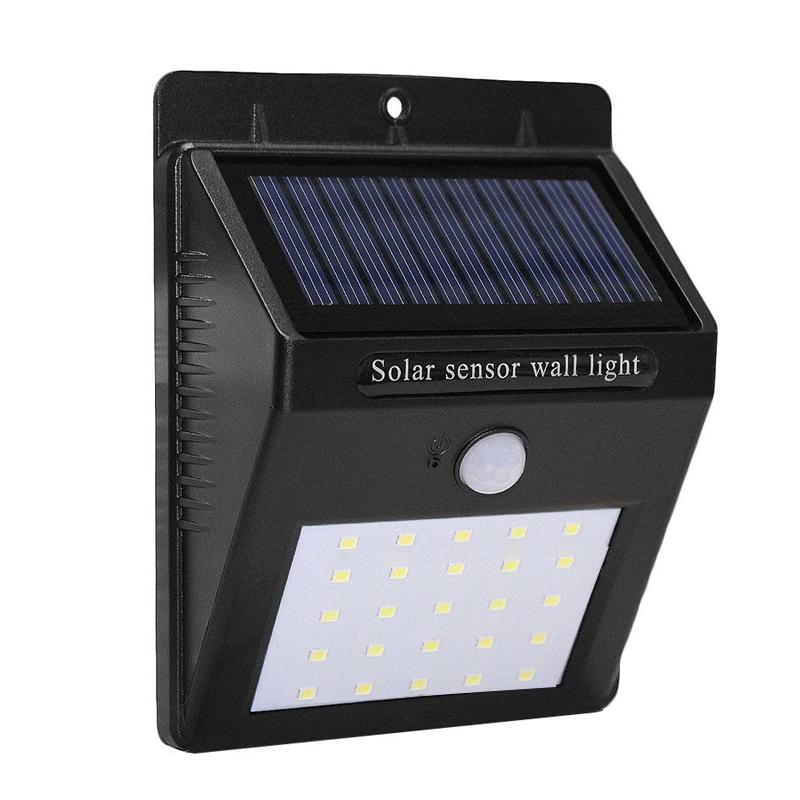 Lampa cu incarcare solara, 30 x LED, senzor PIR shopu.ro