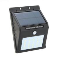 Lampa cu incarcare solara si senzor miscare, 20 x LED, Negru