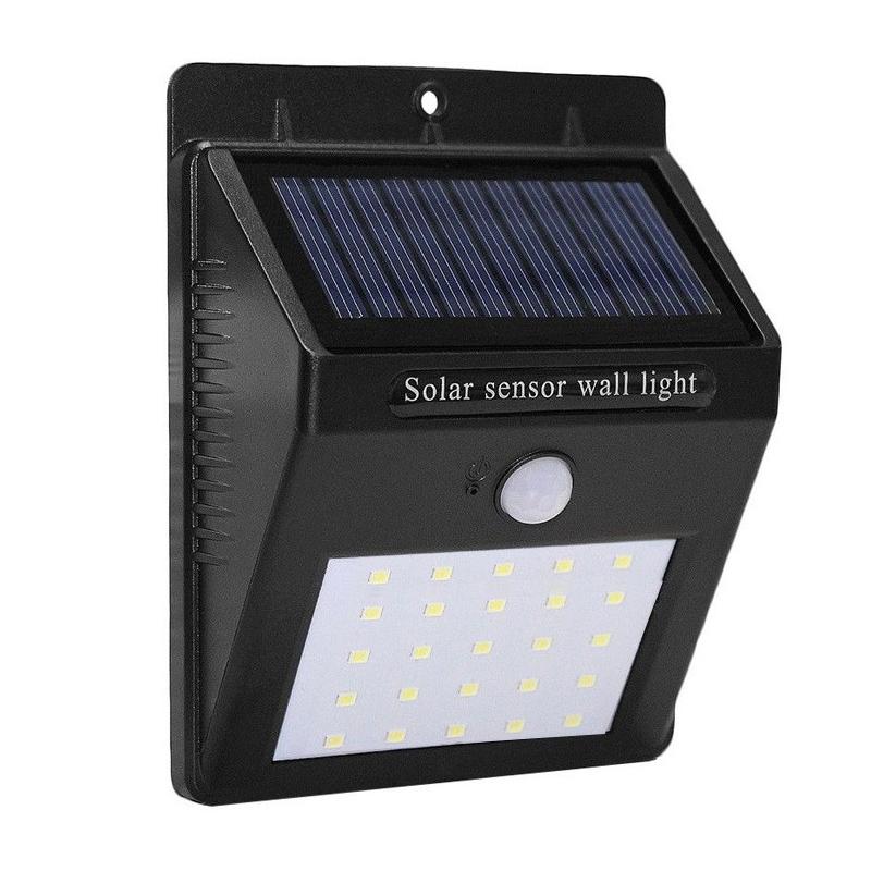 Lampa cu incarcare solara, 25 x LED, senzor PIR shopu.ro