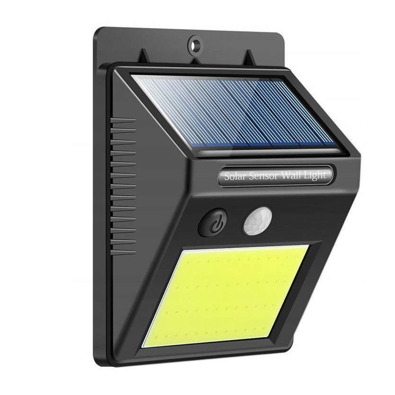 Lampa cu incarcare solara, 48 x LED, 1200 mAh, 600 lm, senzor miscare shopu.ro