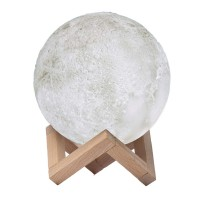 Lampa decorativa 3D Moon Light, USB, luminozitate ajustabila