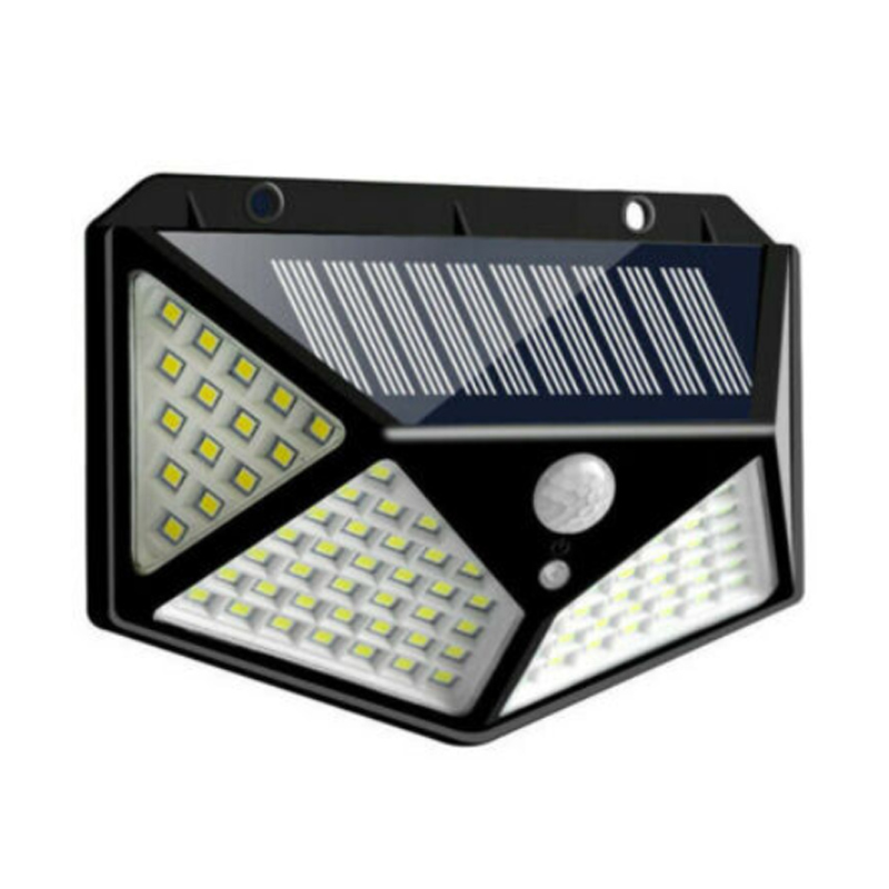 Lampa solara BK-100, 2 W, 600 lm, 100 x LED, 1800 mAh, senzor miscare shopu.ro