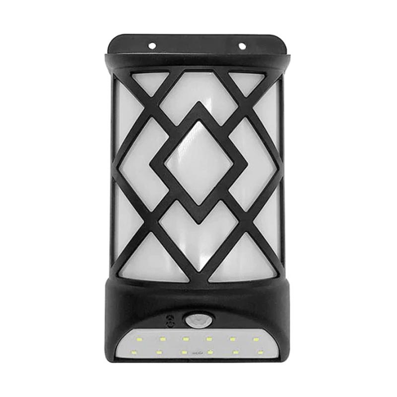Lampa solara cu senzor miscare MX, 12 x LED, efect flacara shopu.ro