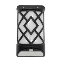 Lampa solara cu senzor miscare MX, 12 x LED, efect flacara