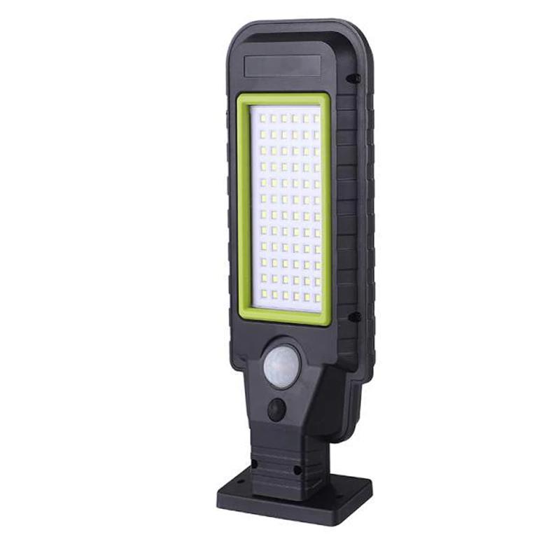 Lampa solara cu senzor miscare HS-8011B, 72 x LED, 2400 mAh shopu.ro