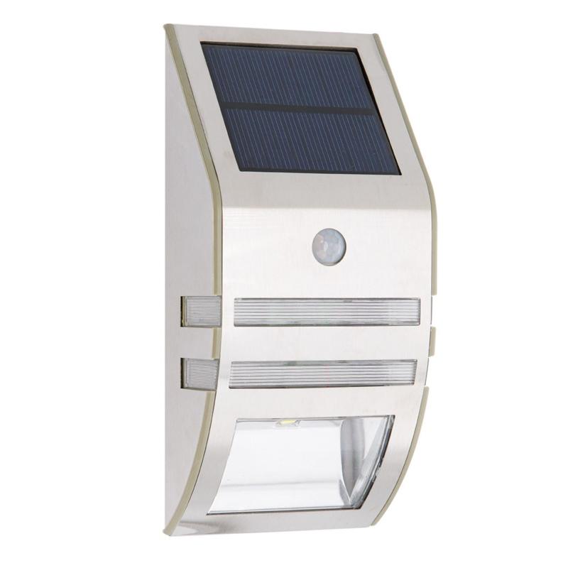 Lampa solara cu senzor, LED, 17 cm, montare perete, Argintiu shopu.ro