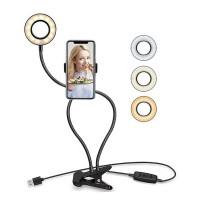 Lampa telefon pentru selfie i-JMB Ring Light, 10 nivele intensitate, USB
