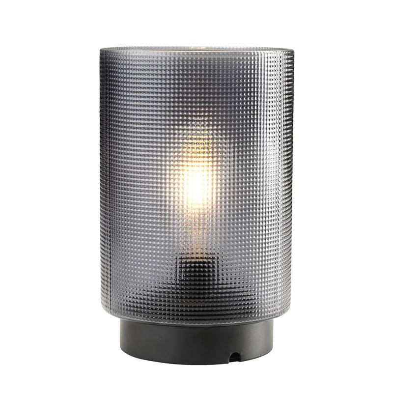 Lampa cu baterie, 45 lm, 2700 K, 15 x 24 cm, sticla/metal, Negru 2021 shopu.ro