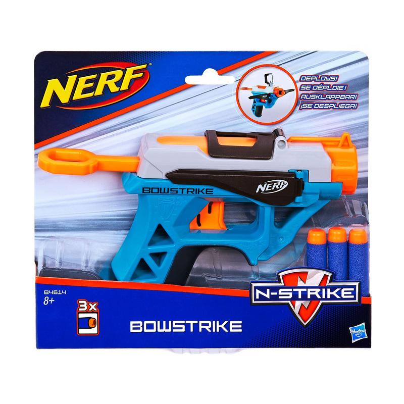 Lansator Nerf N-Strike Bowstrike, 3 sageti spuma, 8 ani+