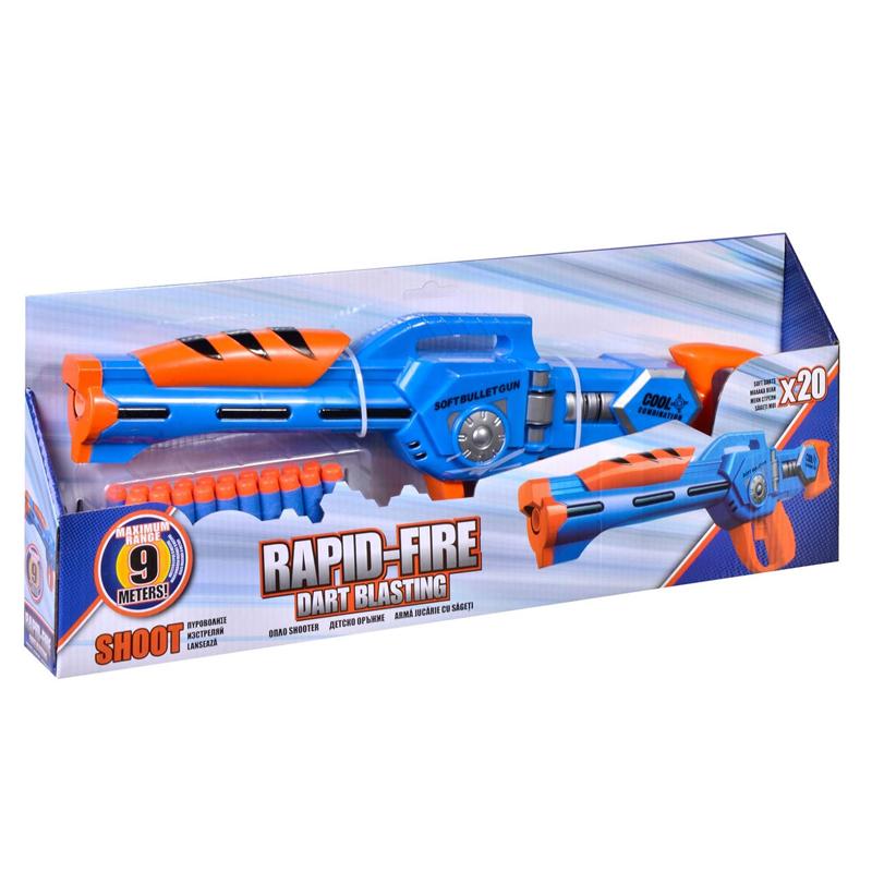 Lansator sageti Rapid Fire Nerf, 20 sageti spuma