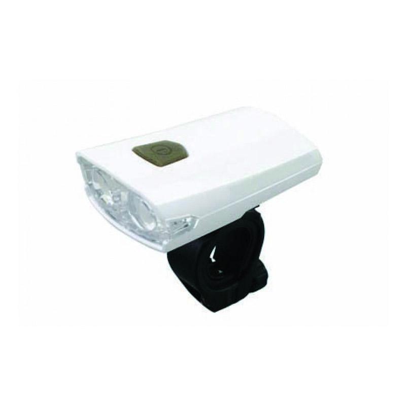 Lanterna LED pentru bicicleta Cobra, 300 mAh, incarcare USB, Alb 2021 shopu.ro