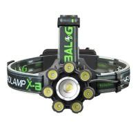 Lanterna frontala cu zoom X-Balog BL-T88-8, 8 x LED, functie semnalizare, acumulator