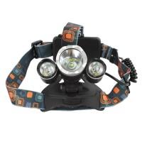 Lanterna frontala JR-3000, zoom, 3 x Led T6, 6000 lumeni