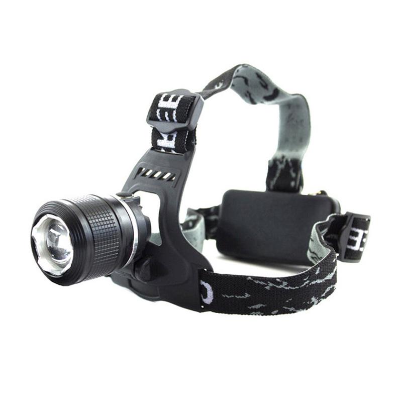 Lanterna frontala cu zoom Bailong BL-2199-2, 2 trepte lumina, functie SOS 2021 shopu.ro