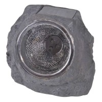 Lanterna solara LED tip piatra, impermeabila, 16 x 12 x 11 cm
