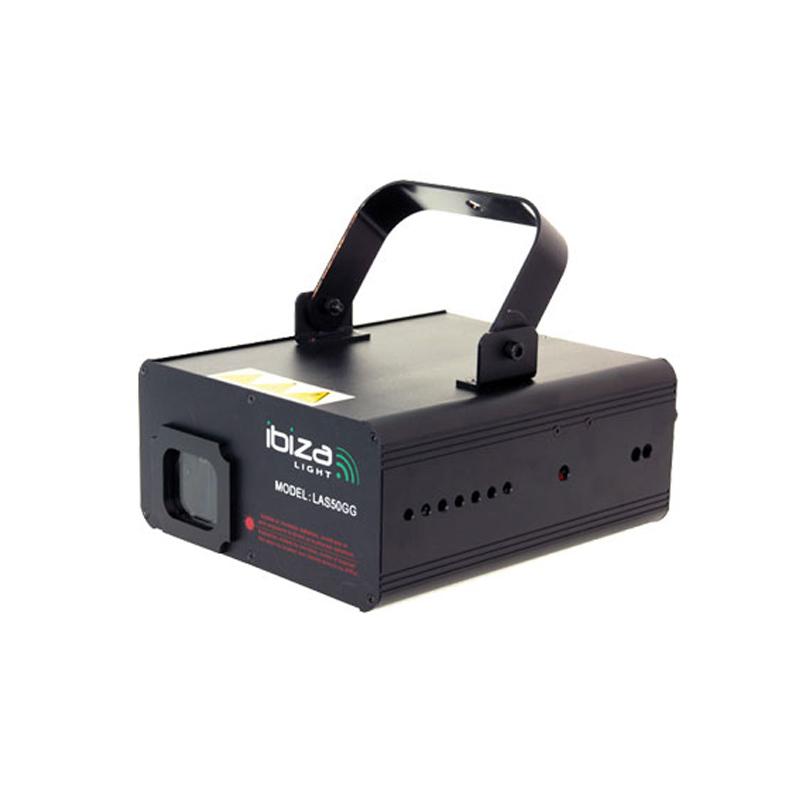 Laser Ibiza 50 mW, 72 secvente, control audio, DMX, racire cu aer, Verde 2021 shopu.ro