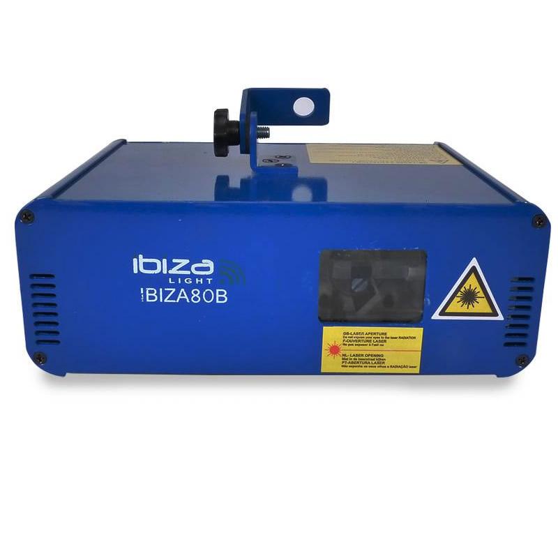 Laser Ibiza pentru cluburi, 10 canale DMX, 80 mW, albastru 2021 shopu.ro