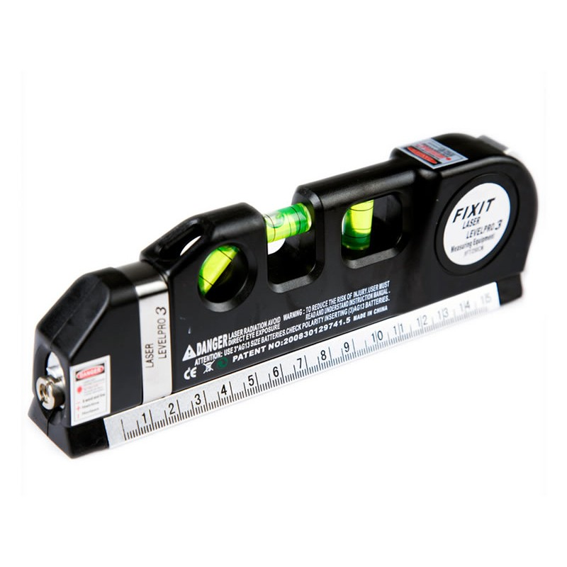 Nivela cu raza laser si ruleta incorporata, ruleta 2.5 m, laser 6 m