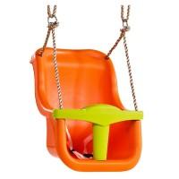 Leagan pentru copii Luxe PP, 360 x 390 x 491 mm, Portocaliu/Verde lime