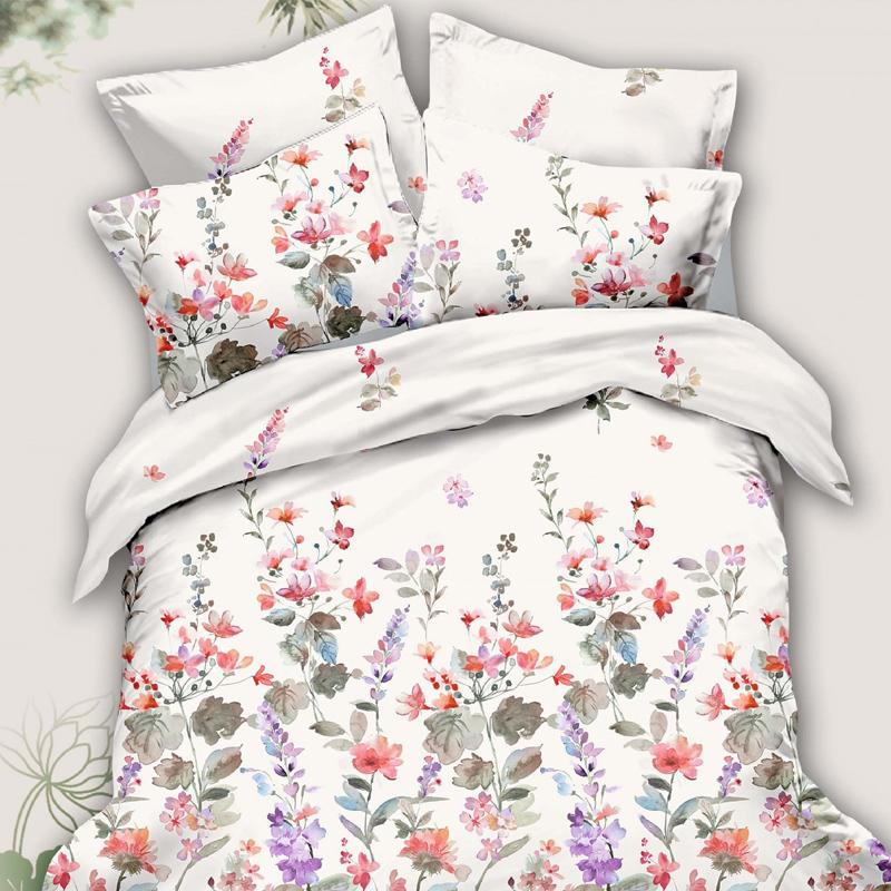Lenjerie de pat Caressa 78391, 2 persoane, poliester 100%, 6 piese, Multicolor 2021 shopu.ro