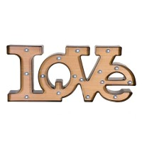 Litere decorative, 16 x LED, 52 x 23.5 cm, mesaj Love