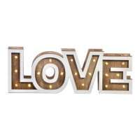 Litere decorative, 19 x LED, 35 x 12.5 cm, mesaj Love
