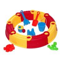 Loc de joaca pentru nisip Beach Toys, 7 accesorii, tip castel