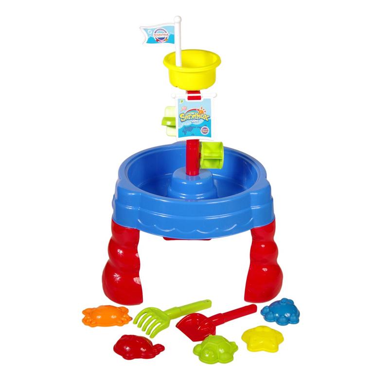 Loc de joaca pentru plaja Sand and Water Table, 7 accesorii incluse, tip castel 2021 shopu.ro