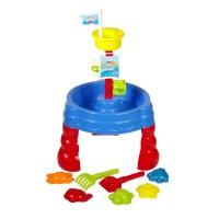 Loc de joaca pentru plaja Sand and Water Table, 7 accesorii incluse, tip castel